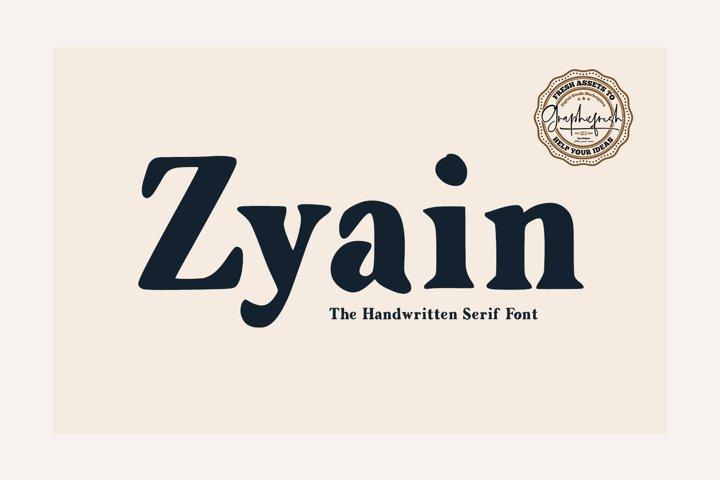Zyain - The Handwritten Serif Font