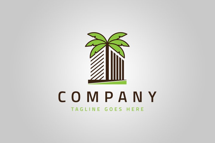 Beach Resort Logo Template