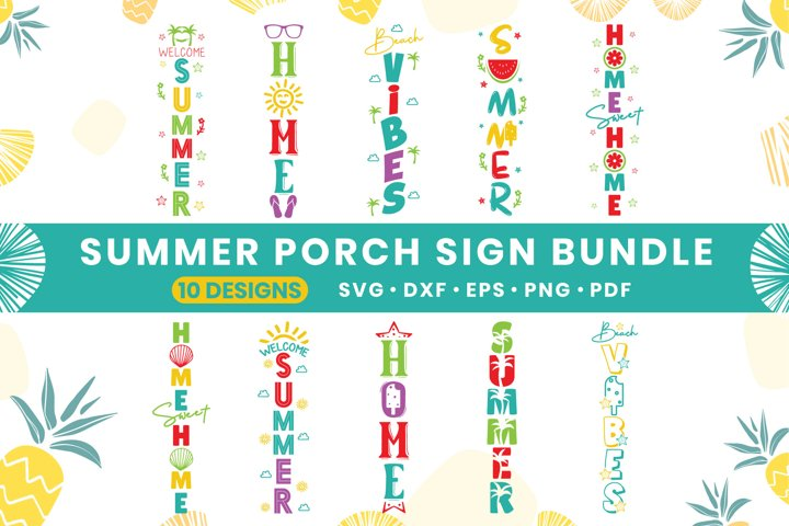 Summer SVG Bundle Vol.2, 10 Summer Porch Sign Bundle