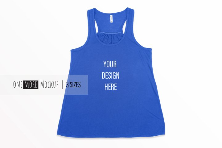 Women Tank Top Mockup | Bella Canvas 8800 True Royal