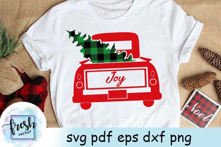 Christmas Truck Svg Christmas Svg Buffalo Plaid Tree Joy Svg