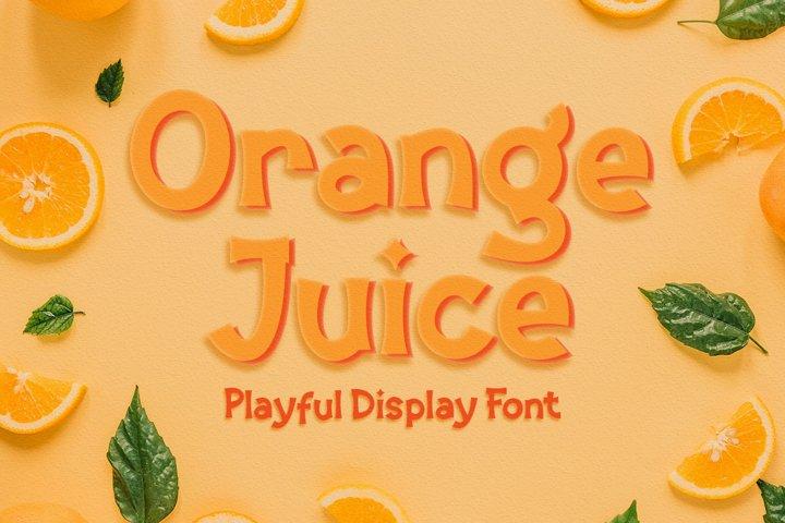 Orange Juice | Display Font