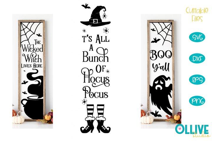 Halloween Vertical Porch Sign SVG Mini Bundle