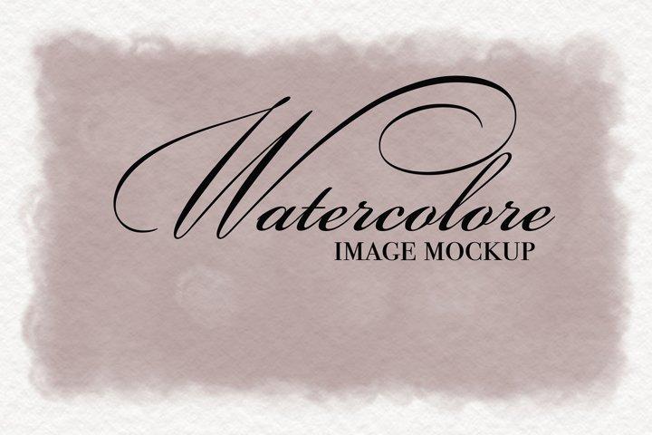 Mockup watercolor image
