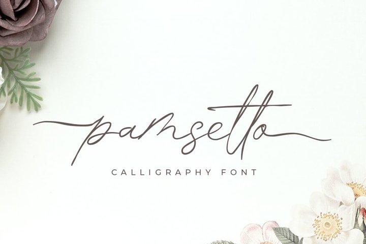 Pamsetto - Swash Script Font