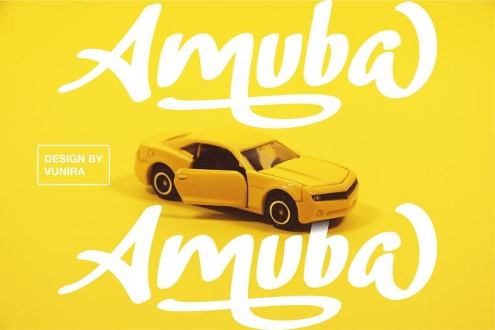 Amuba | Handwritten Display Font