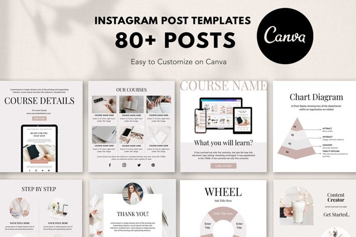 Engagement Instagram Post Templates, Podcast, Course Creator