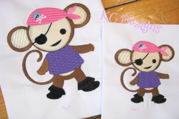 Pirate Girl Monkey 01