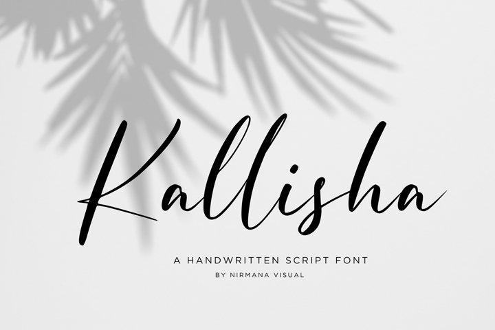 Kallisha - Handwritten Script Font