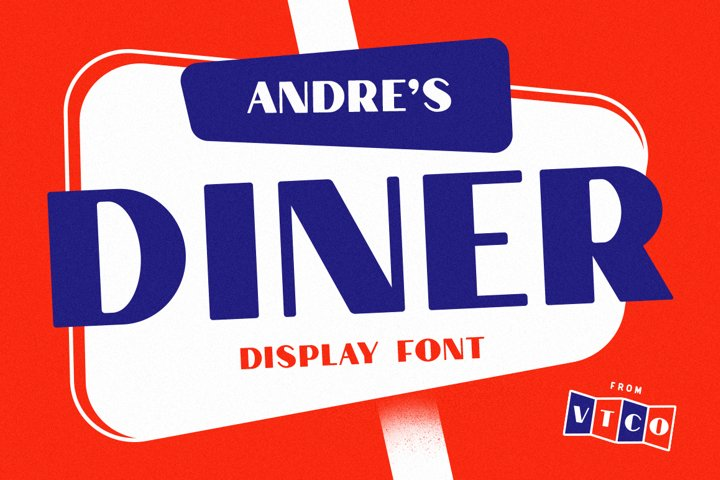 Andres Diner Display Font