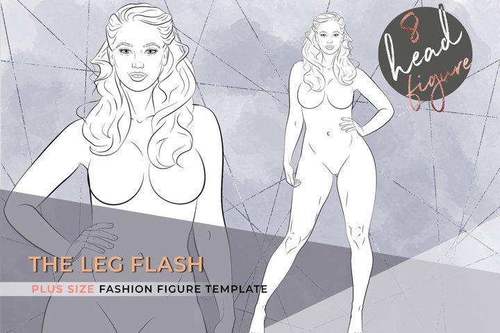 The Leg Flash| Plus size Fashion Figure