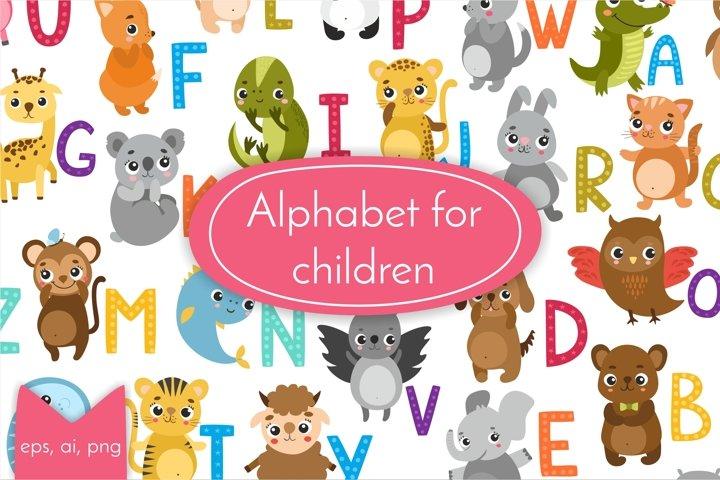 Alphabet animals for kids