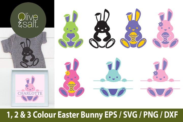 Easter Bunny Clipart, Bunny Monogram SVG