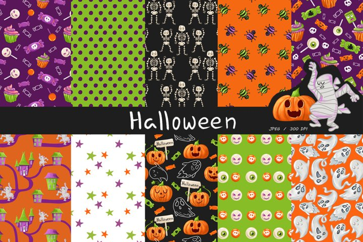 Textural Halloween Digital paper