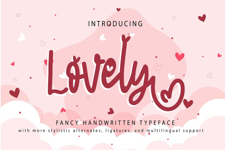 Lovely | Fancy Handwritten Typeface