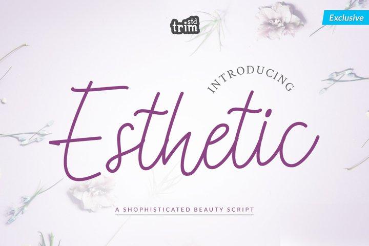 Esthetic - Beauty Script Font
