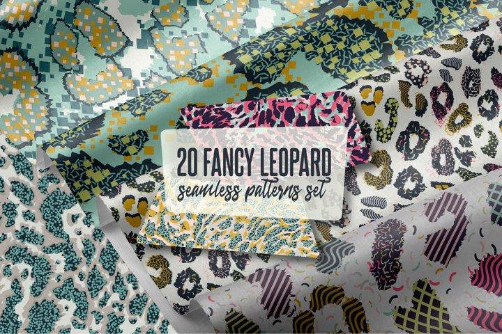 20 Fancy Leopard Patterns Set