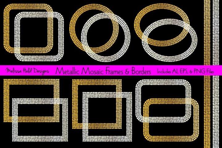 Metallic Mosaic Frames