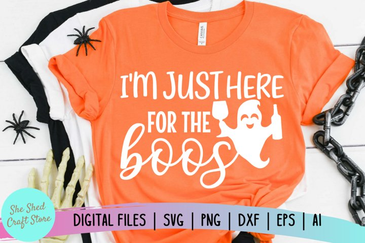 Here for the Boos - Halloween SVG - Cute Ghost SVG