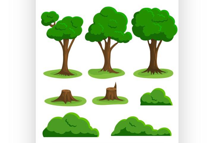 Vector nature elements set
