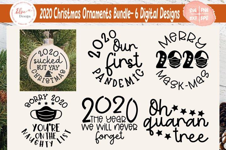 2020 Ornaments Bundle - Pandemic / Quarantined Version SVG