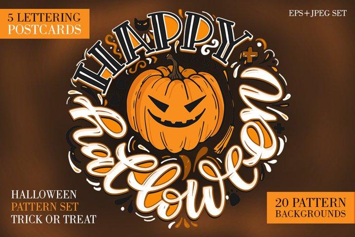 Halloween mega set - pattern and postcard
