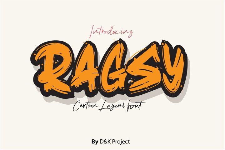 Ragsy | Cartoon layered font