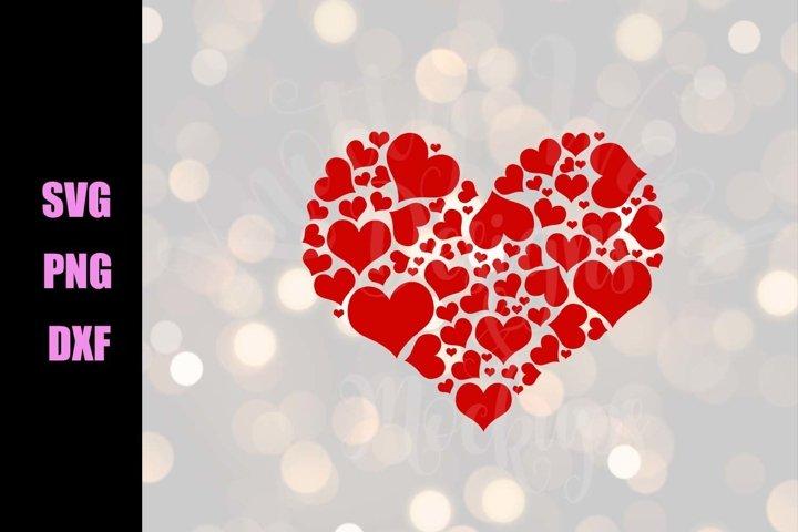 Valentine SVG - Hearts - Downloadable PNG, DXF, SVG