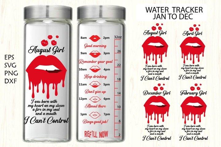 Water tracker, Water tracker svg,lips,lips dripping,lips svg
