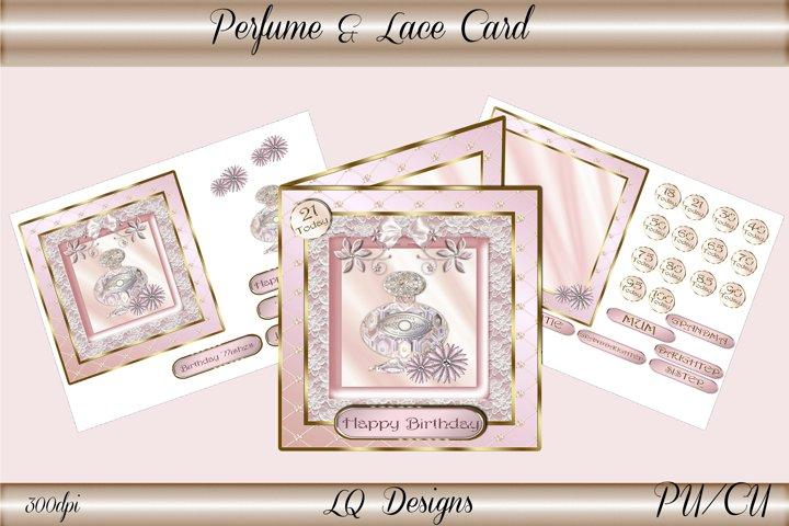 Perfume & Lace Card