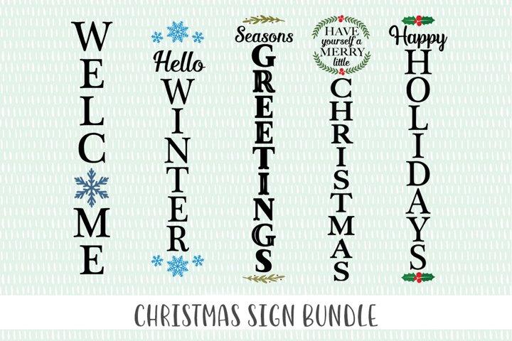 Christmas SVG Bundle- Christmas Front Porch Sign Bundle