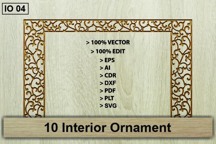 IO 04, 10 Interior Ornament Vector Cutting Crafts