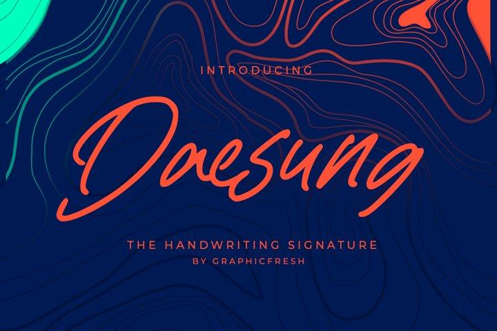 Daesung - The Handwriting Signature