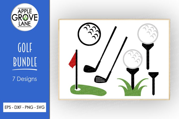 Golf Svg Bundle - 7 Designs - Golf Ball Svg Cut Files