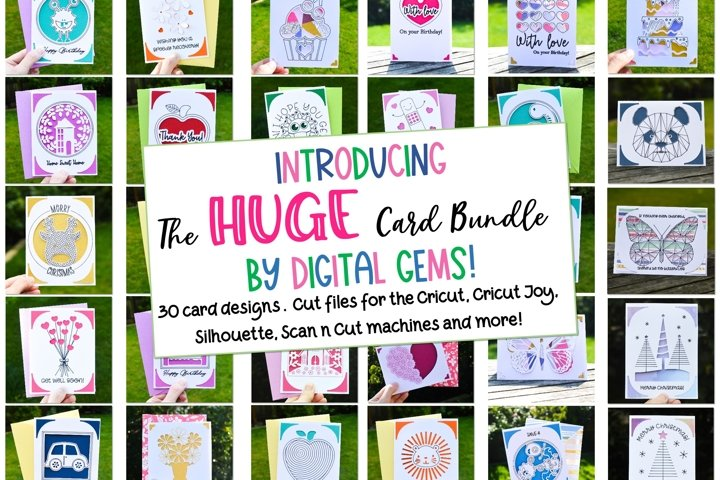 The Huge Card Bundle! Now compatible with the Cricut Joy!