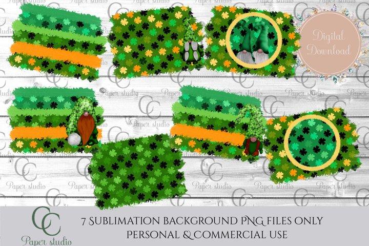 Sublimation background bundle - St Patricks day gnomes