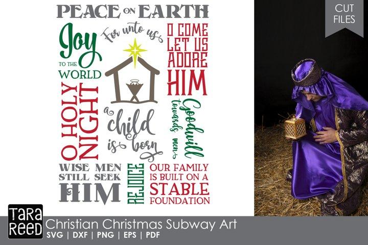 Christian Christmas Subway Art - Christmas SVG files