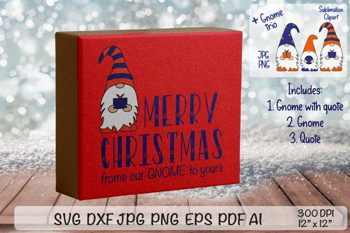 MERRY CHRISTMAS. Christmas Gnome. Gnome Clipart