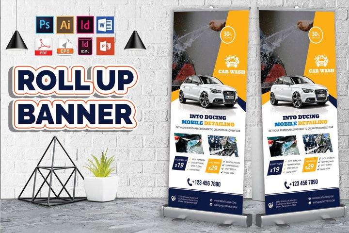 Car Wash Rollup Banner Vol-05