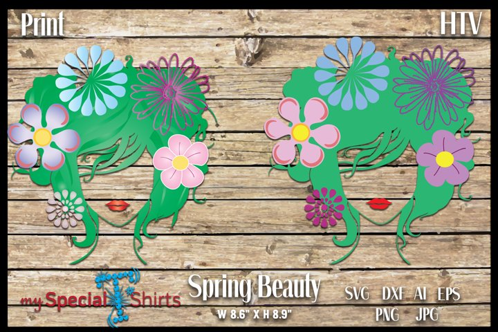 Spring Beauty HTV cut file and Print File SVG, DFX, EPS,