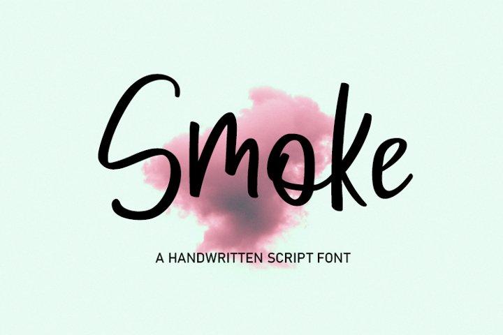 Smoke _ Handwritten Script Font