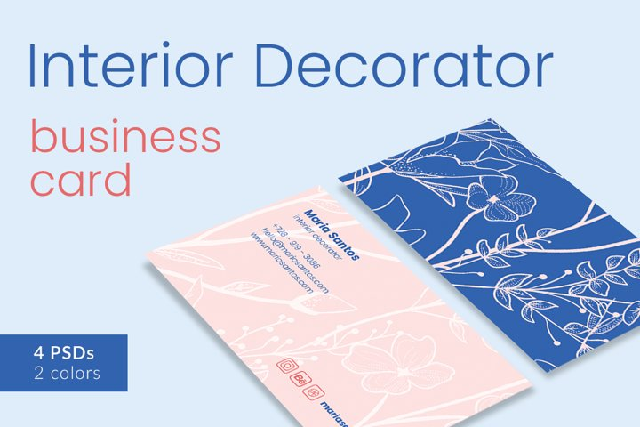 Interior Decorator Business Card