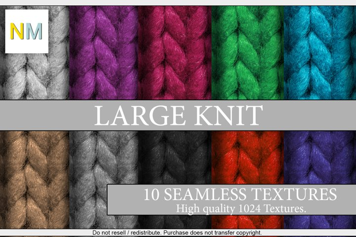 Large Knit 10 Seamless Fabric Textures Harmonia NM