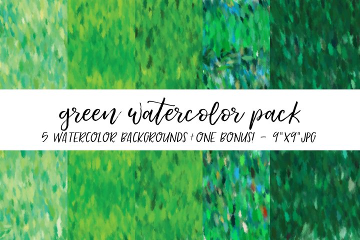 Green Watercolor Backgrounds