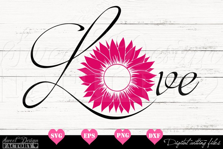 Love Sunflower SVG
