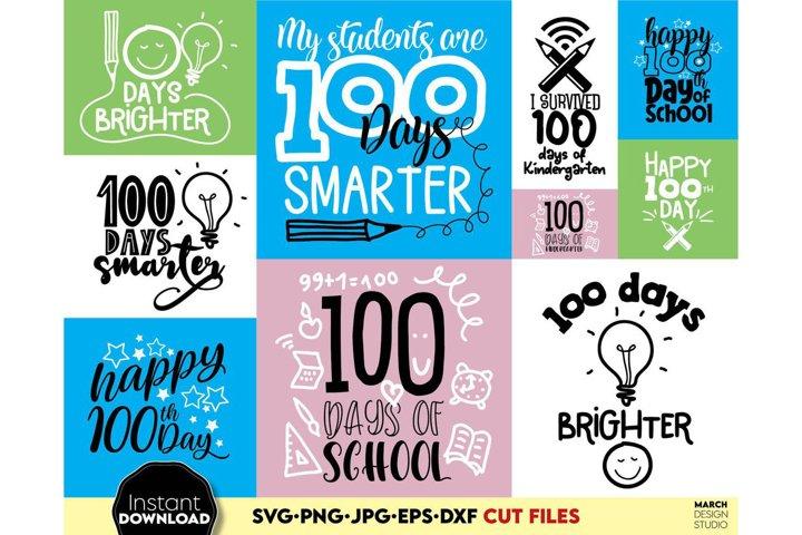 100 day of school SVG, SVG School Bundle, Class of 2021 SVG