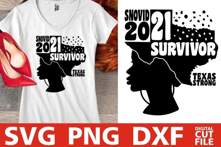 I survived Snovid 2021 svg, Texas, Snovid svg, Snow Storm