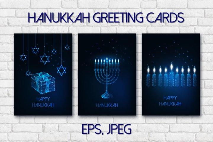 Hanukkah greeting cards
