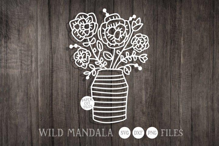 Flower Bouquet Papercut SVG Cut File