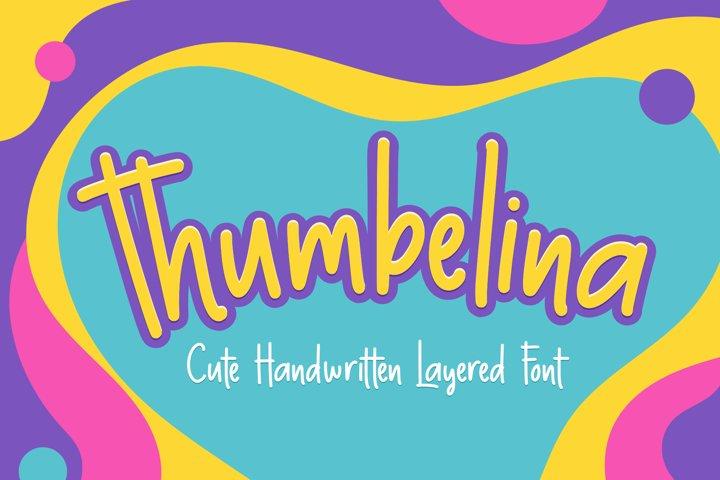 Thumbelina - Cute Layered Font